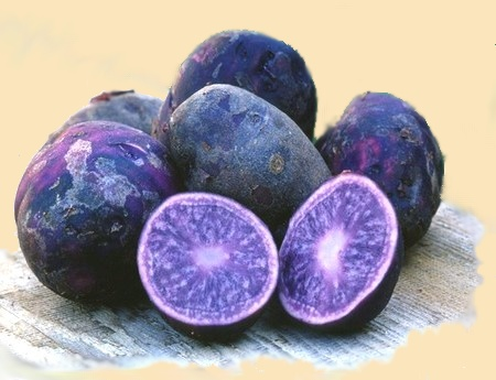 vijolčen krompir